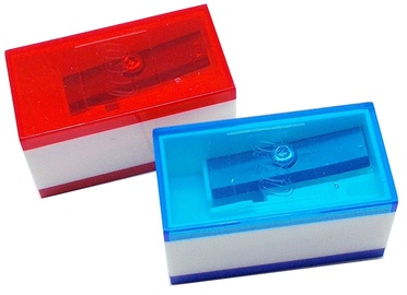 LEGO Pencil Sharpeners 2pcs Blue & Red