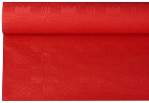 Pap Star Tablecloth 8 x 1.2m Red
