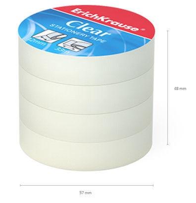 ErichKrause Tape Clear 12mmx33m 4pcs