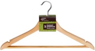 Home4you Wooden Hanger Set 3pcs 44cm