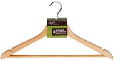 Home4you Wooden Hanger Set 3pcs 44cm