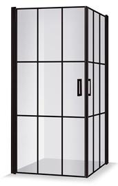 Dušikabiin Brasta Glass Viktorija Nero Cube, ruudukujuline, aluseta, 1000x1000x2000 mm