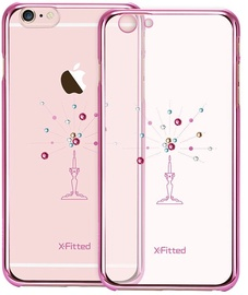 X-Fitted Starry Sky Swarovski Crystals Back Case For Apple iPhone 6/6s Pink