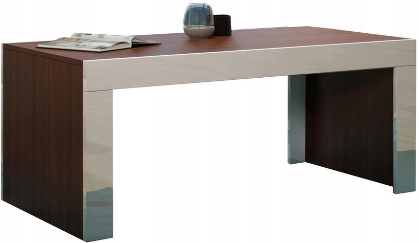 Kafijas galdiņš Pro Meble Milano Walnut/White, 1200x600x500 mm