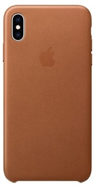 Apple Leather Back Case For Apple iPhone XS Max Saddle Brown