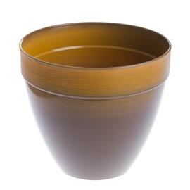 Puķu pods Plasticotto Touch, Ø30cm, brūni oranžs