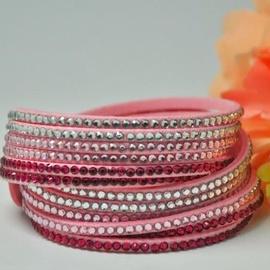 Vincento Bracelet Double Crystalsnake LB-1033