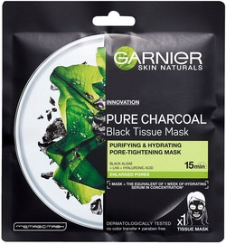 Garnier Skin Naturals Pure Charcoal Black Tissue Mask With Algae 1pcs