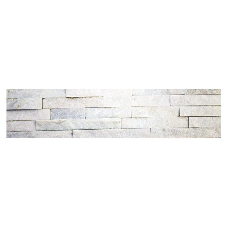 SN Stone Black White Floor Tiles 15x60cm White