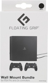 Floating Grip PS4 Pro Wall Mount + 2 Controller Wall Mounts Black