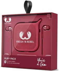 Ausinės Fresh 'n Rebel Vibe In-Ear + Rockbox Pebble Ruby