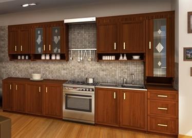 Virtuvinė spintelė MARGARET 3 260, riešutmedžio spalvos