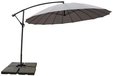 Sodo skėtis Domoletti Round Grey, 3 x 3 m