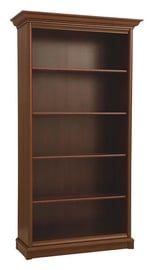 Black Red White Kent Bookshelf Chestnut