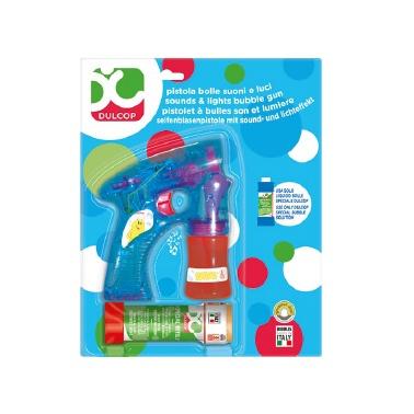 Žaislinis muilo burbulų šautuvas Dulcop Bubble World, 60 ml