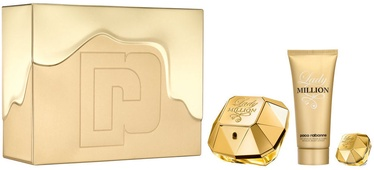 Paco Rabanne Lady Million 80ml EDP + 100ml Body Lotion + 5ml EDP