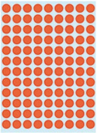 Herlitz Dot Labels 8mm Red