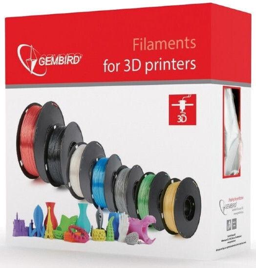 Расходные материалы для 3D принтера Gembird 3DP-PLA Plus, 330 м, серый
