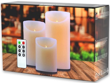 DecoKing Dripwax LED Candle Set 10/12.5/15cm