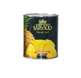Ananasų gabaliukai Mikado, 820 g / 490 g