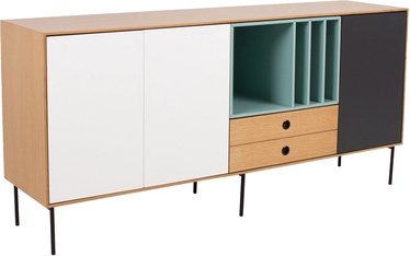 Komoda Home4you Emerald Oak, 180x44x85 cm