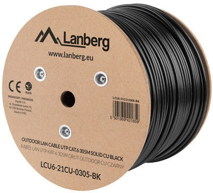 Lanberg External Network Cable UTP LCU6-21CU-0305-BK CAT6 305m Black