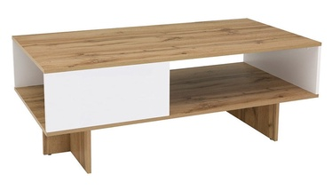 Kavos staliukas Black Red White Zele White/Oak, 1200x600x455 mm