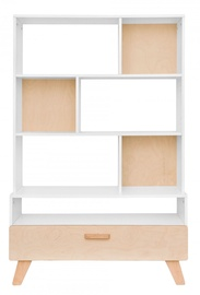 Bellamy Hoppa Shelf White/Beech