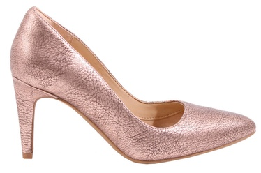 Clarks 261351764 Laina Rae Leather Pumps Rose Gold 39.5