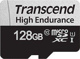 Карта памяти Transcend 350V microSDXC 128GB + Adapter, 128 MB