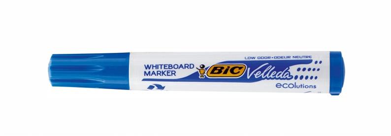 Baltās tāfeles marķieris BIC Velleda Ecolutions Whiteboard Marker Blue 904938
