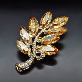 Diamond Sky Brooch Selena II With Swarovski Crystals