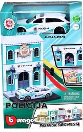 Bburago Police Station With Lithuania Police Car 18-31502