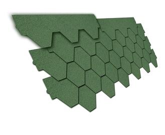 """Bituminė čerpė """"Nexler 800"""", žalios spalvos trapecija"""
