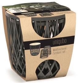 Sodo baldų komplektas Prosperplast Uniqubo Multifunctional IKUBS3-S433, pilkas, 2 vietų