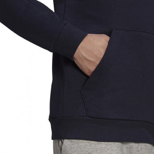 Adidas Essentials Fleece 3 Stripes Hoodie GK9584 Blue 2XL