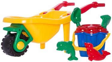 Smėlio žaislų rinkinys 4IQ Yellow, 6 vnt.