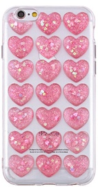 Mocco Trendy Heart Back Case For Apple iPhone 6 Plus/6s Plus Pink