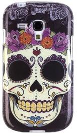 Zooky Silicone Back Case With Skulls Art Design Samsung Galaxy S3 Mini