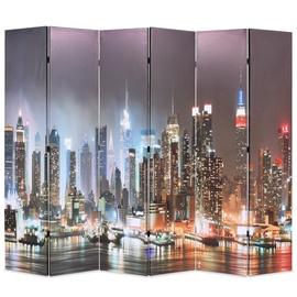 Ширма VLX Folding Room Divider New York by Night, многоцветный, 228 см x 170 см