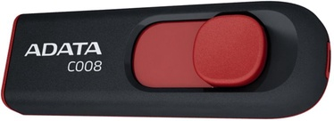 USB atmintinė ADATA C008 Black/Red, USB 2.0, 32 GB