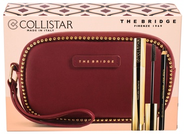 Collistar Infinite Mascara 11ml Extra Black + 0.8g Kajal Pencil Black + The Bridge Cosmetic Bag Burgundy