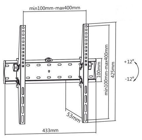"""TV hoidik Maclean, 32-55"""", 40 kg"""