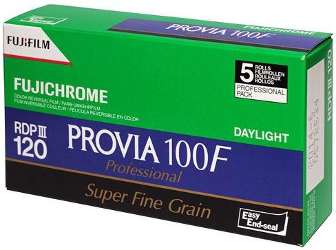 Fujifilm Fujichrome Provia 100F Professional RDP-III Color Transparency 120 Roll Film