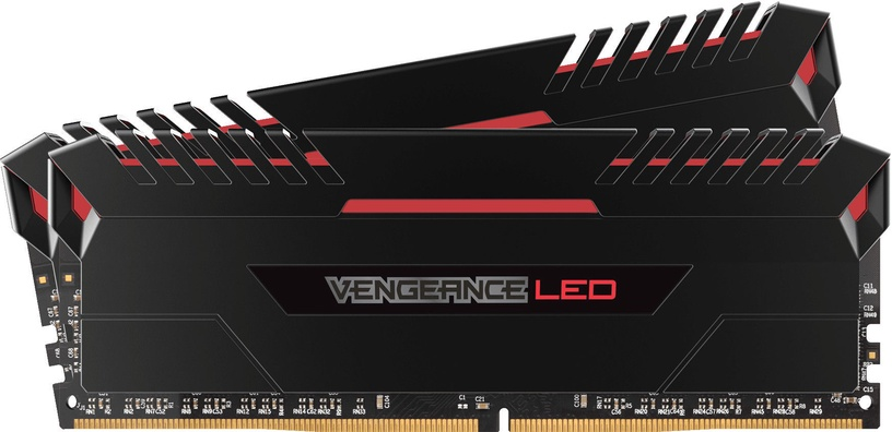 Corsair Vengeance LED 16GB 3000MHz DDR4 CL15 Red DIMM KIT OF 2 CMU16GX4M2C3000C15R