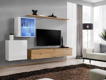 ASM Switch XV Living Room Wall Unit Set White/Wotan Oak