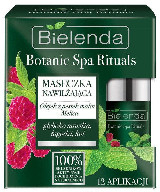 Bielenda Botanic Spa Rituals Raspberry Seeds Oil + Lemon Balm Face Mask 50ml