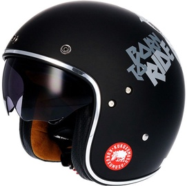 Shiro Helmet SH-235 Kukuskull Matt Black L