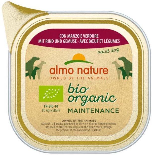 Влажный корм для собак (консервы) Almo Nature Bio Organic Maintenance Beef & Vegetables 100g