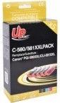 UPrint Canon PG580XXL/CLI-581XXL 5-Pack Cartridge Cyan/Magenta/Yellow/Black